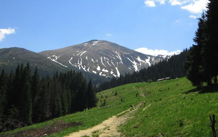 Гора Говерла. Карпаты