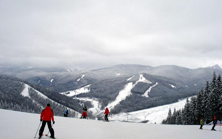 Катание на лыжах в Карпатах и Закарпатье