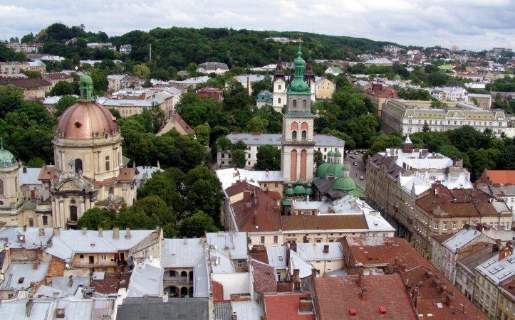 Вид с Львовской ратуши