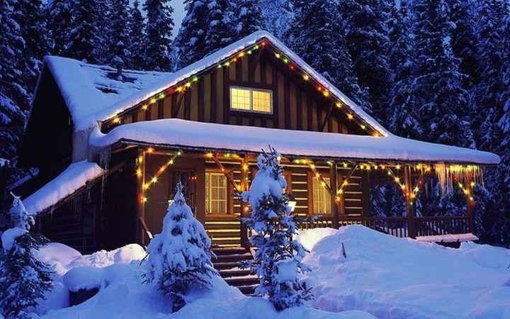 Дом в карпатах на новый год