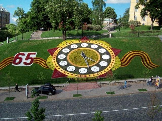 Цветочные часы. Киев.