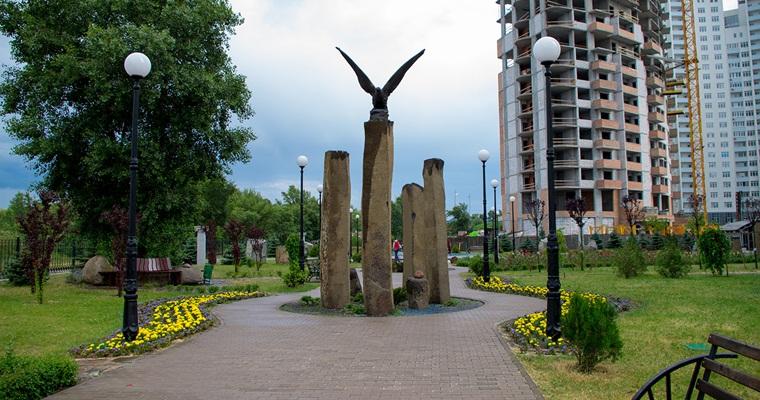 Сад камней на Оболони