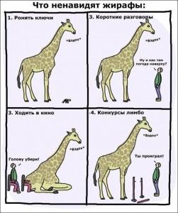Что ненавидят жирафы. Картинки