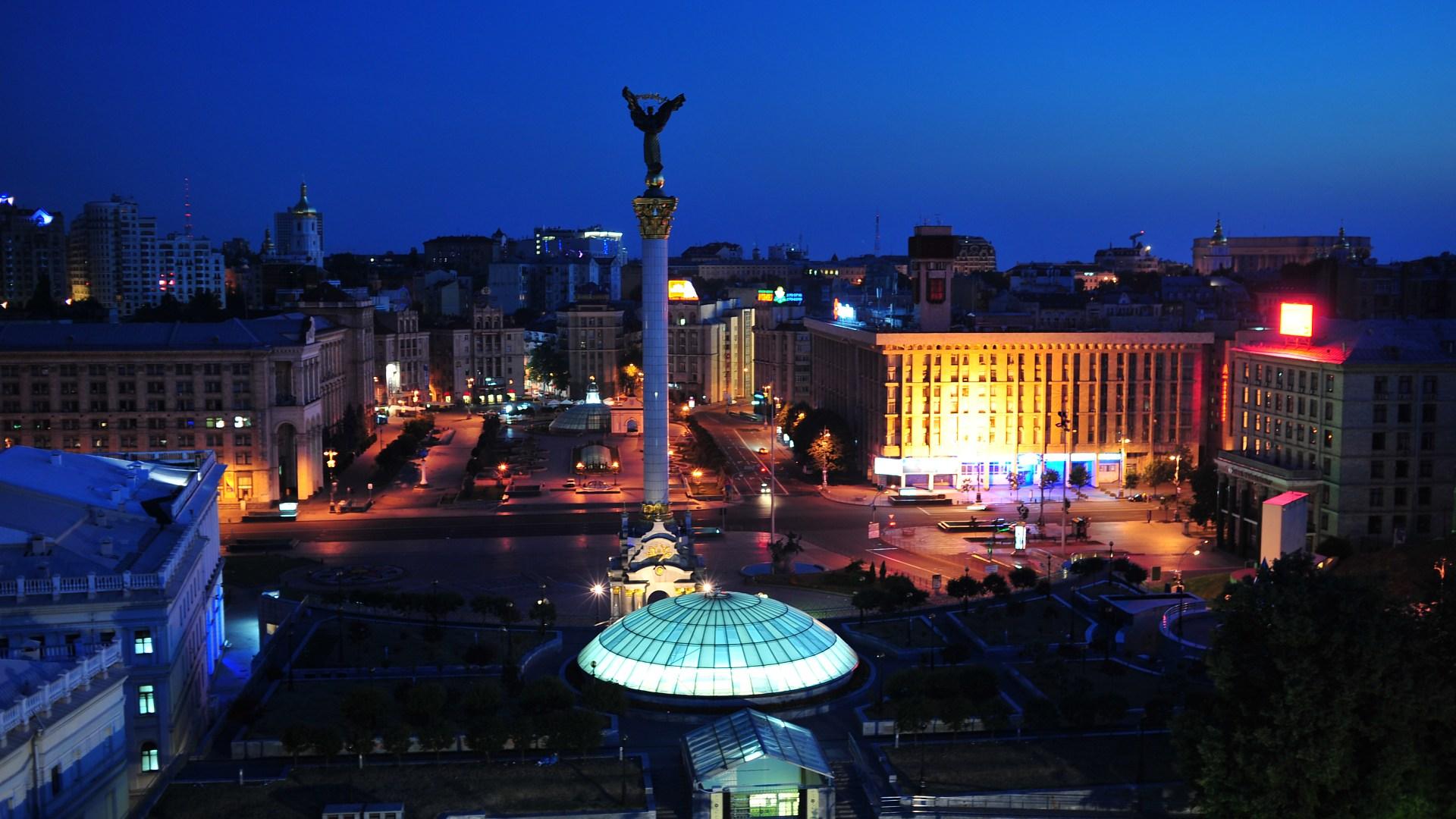 Ночной Киев фото