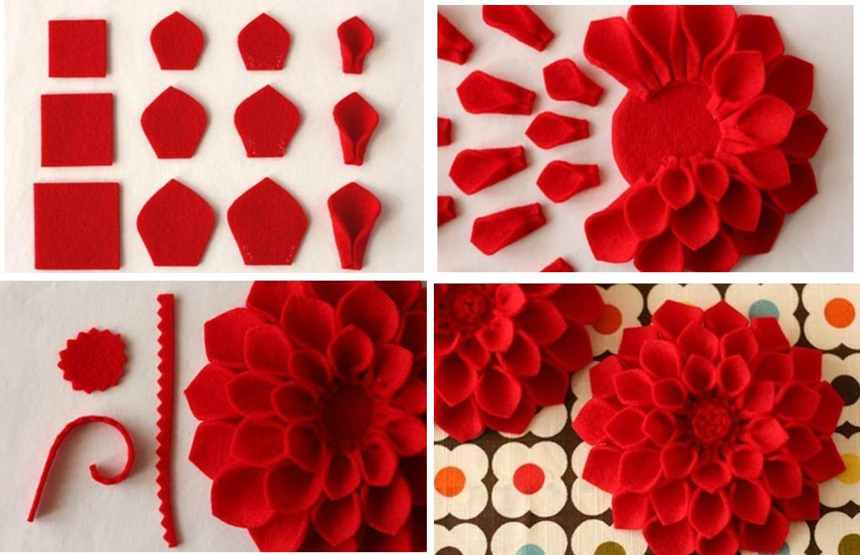 Большие цветы из ткани своими руками для начинающих