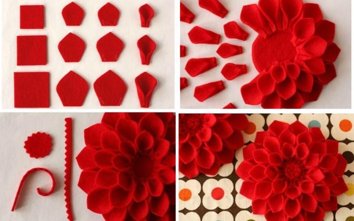 Как сделать цветочек из ткани