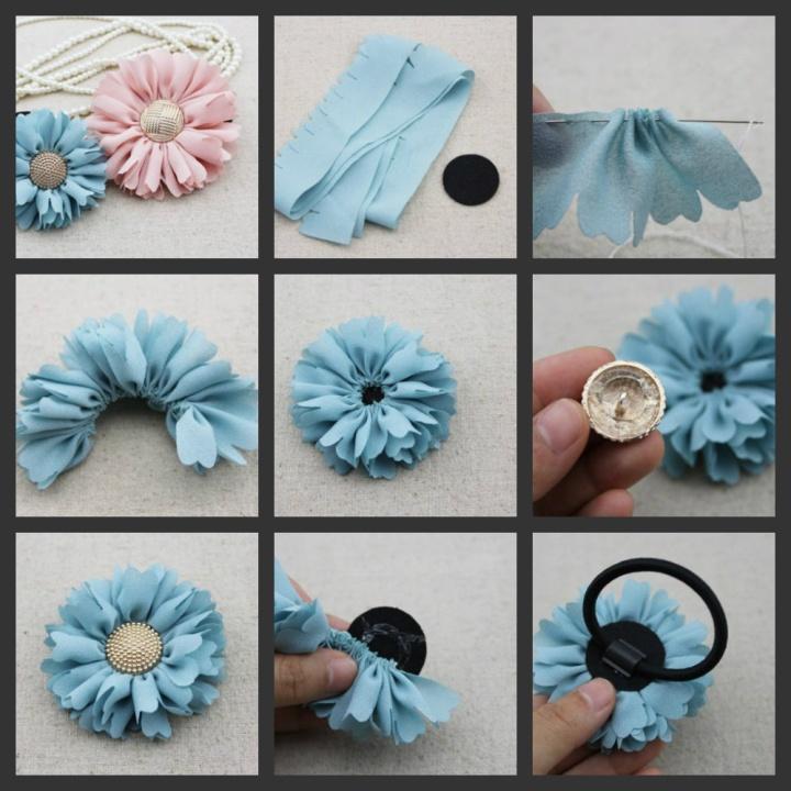 цветы из ткани, как самостоятельно сделать цветы из ткани