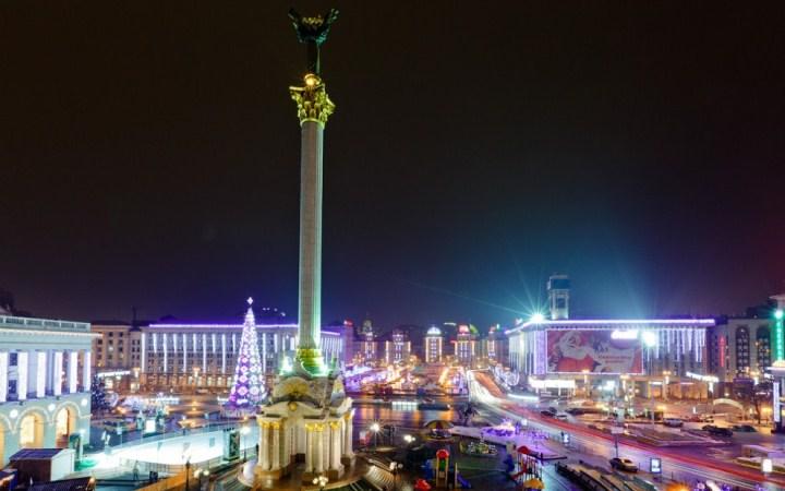 Открытие новогодней елки в Киеве 2012. 19 декабря