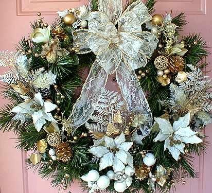 Новогодний венок для дома своими руками