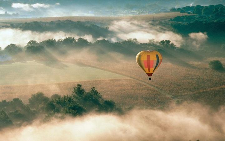 Захватывающий полет на воздушном шаре. Видео