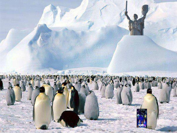Киев Снег Родина Мать Пингвины