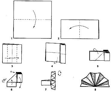 из бумажных салфеток схемы веер