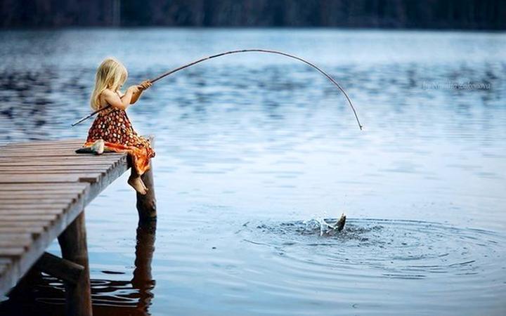 Рыбалка. Дети. Природа. Отдых. Ребенок