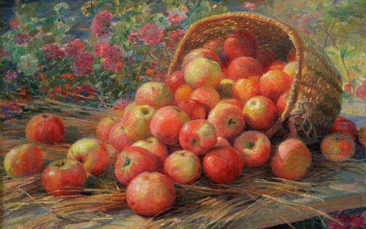 Яблоки. Яблочный Спас. Картина