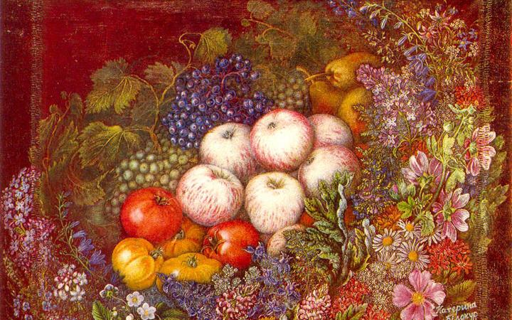 Яблочный спас. Картина. Катерина Билокур.