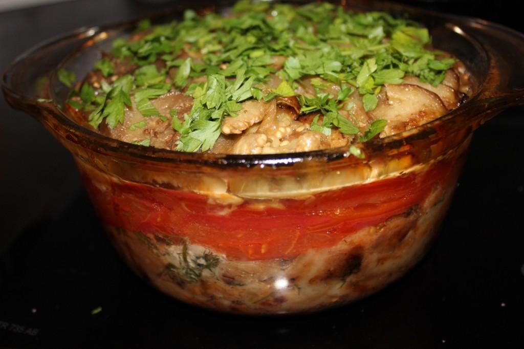 Рецепт запеканки из баклажанов, помидоров, сыра и хлеба