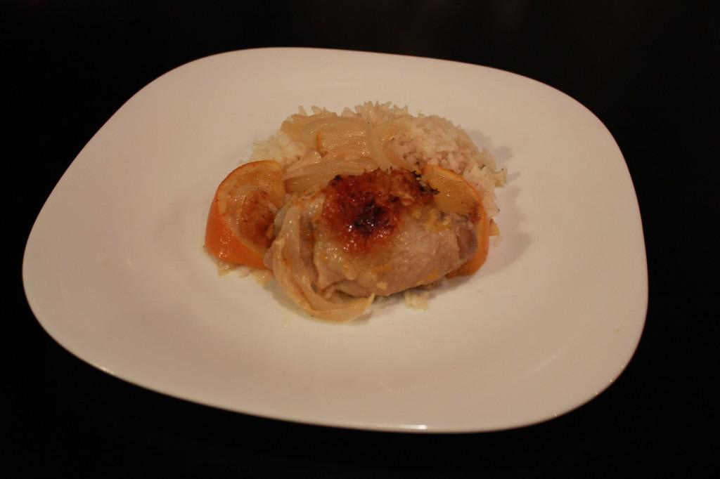 Рецепт курицы с апельсинами