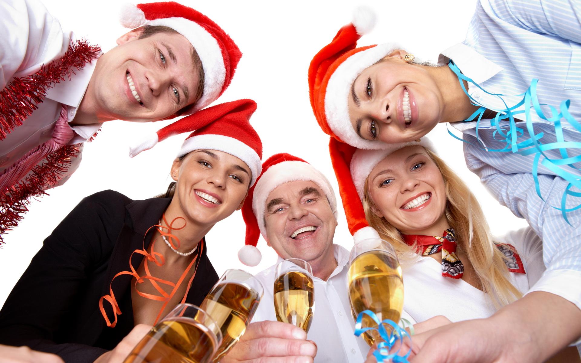 Компания друзей на новый год