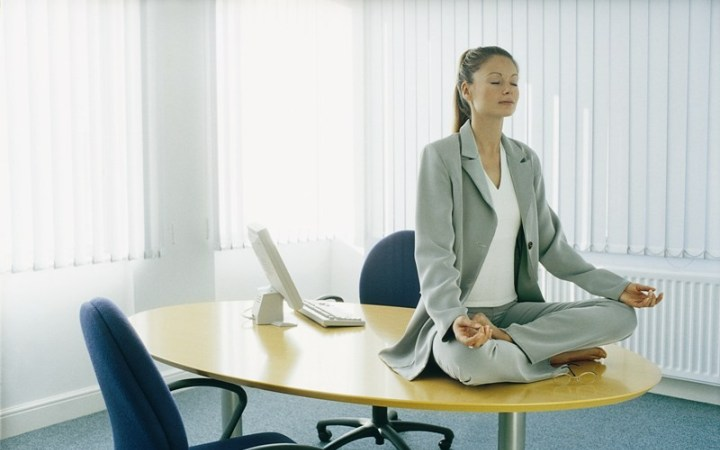Медитация в офисе