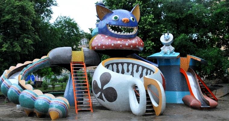 Детский парк на Пейзажной аллее