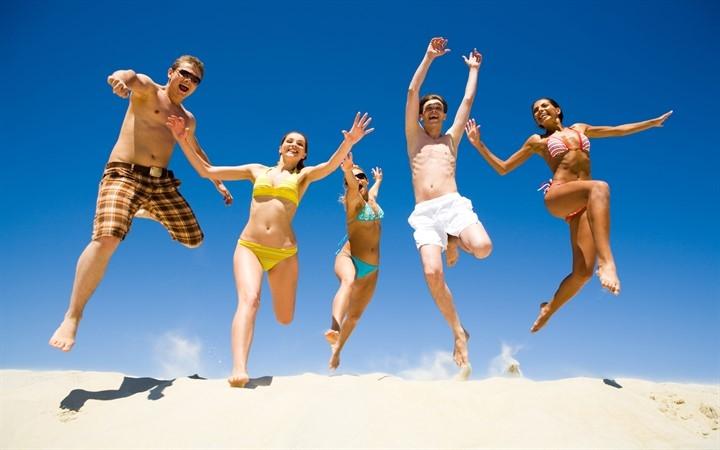 Пляж люди лето