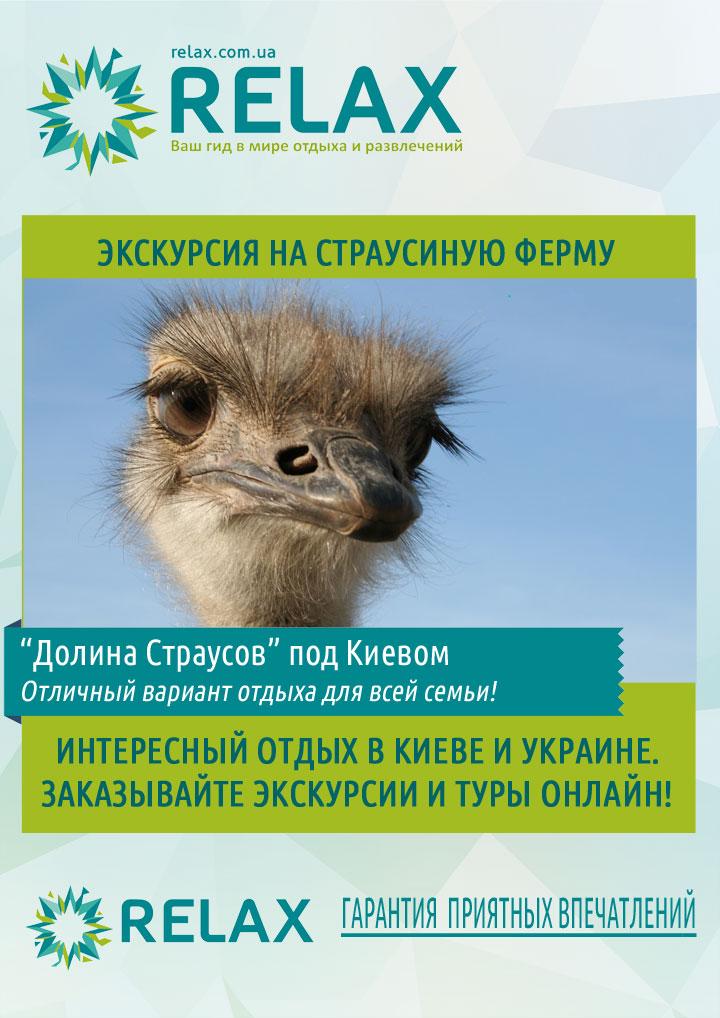 Экзотическая экскурсия из Киева на страусиную ферму будет интересна и взрослым, и детям!