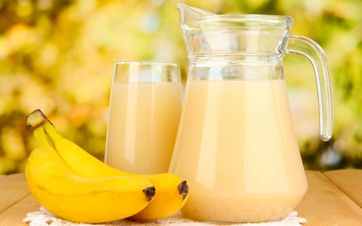 Банановый коктейль полезен для здоровья