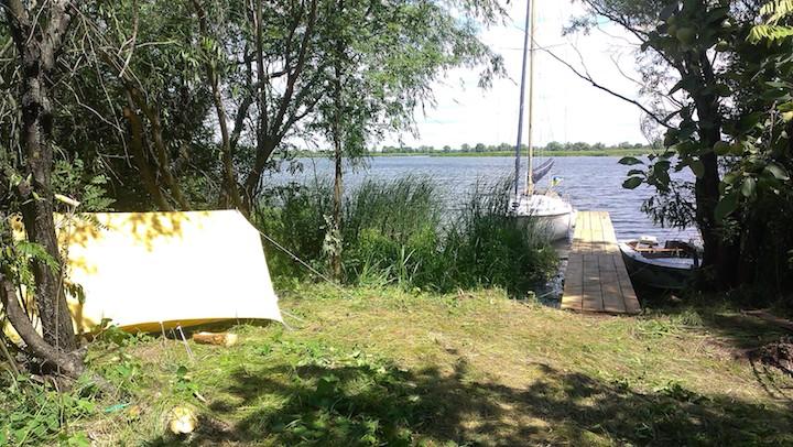 Отдых в палатках под Киевом