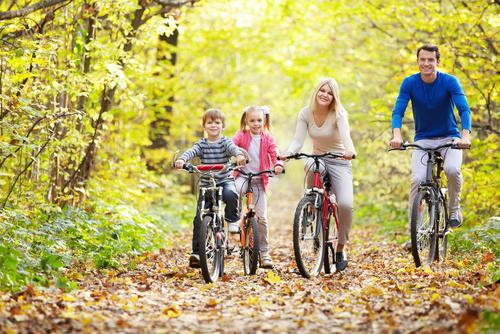 Image result for осенью на велосипеде