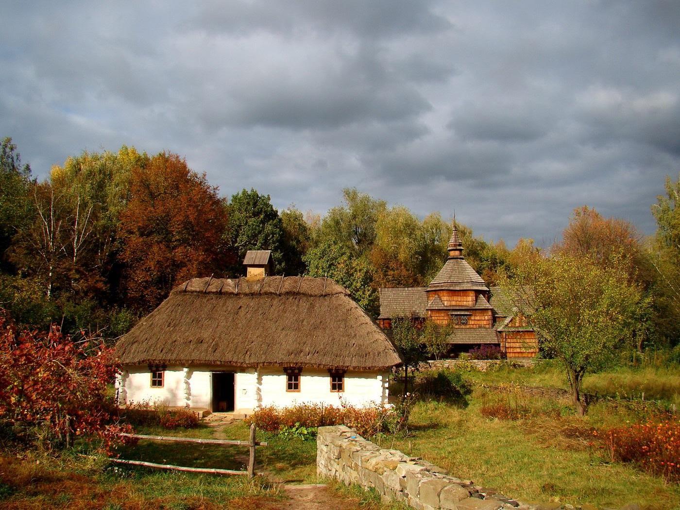 Полюбоваться красотой мельниц и украинских хат в Пирогово