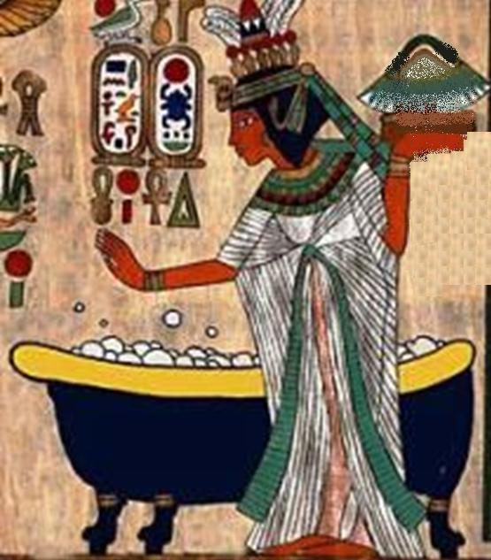 Служанка Шиана готовит молочную ванну для Клеопатры