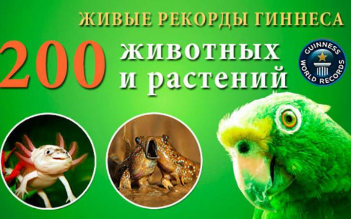 Выставка уникальных животных и растений из книги рекордов Гиннеса