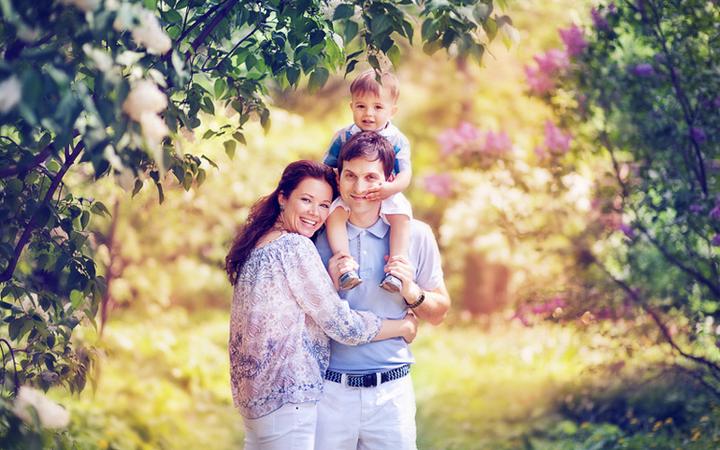 Весенний фотосет с ребенком