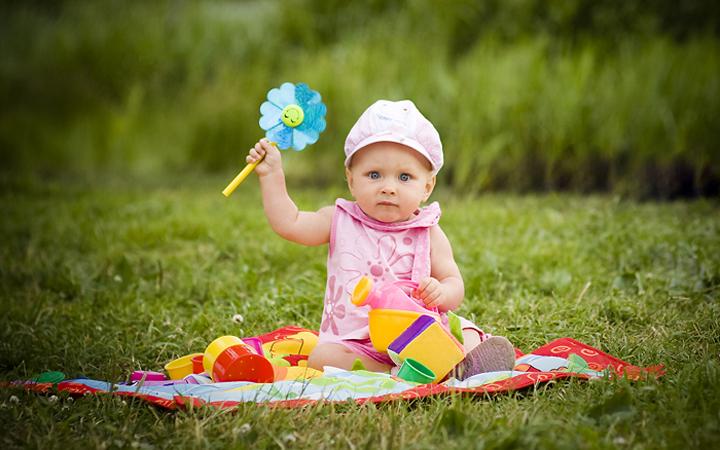 ребенок фотосет природа
