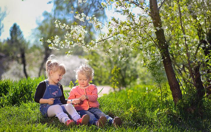 Дети весна фотосет с ребенком