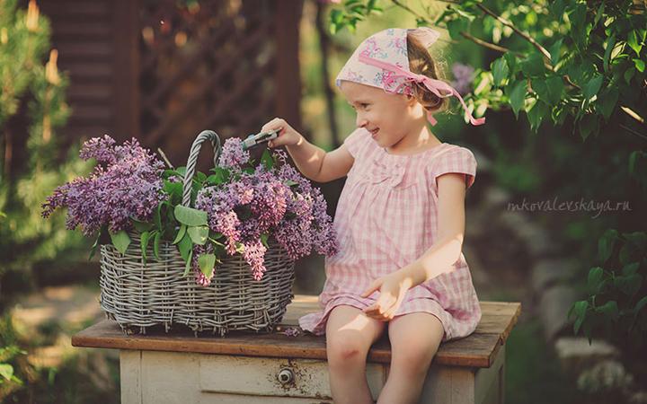 фотосет ребенок природа весна