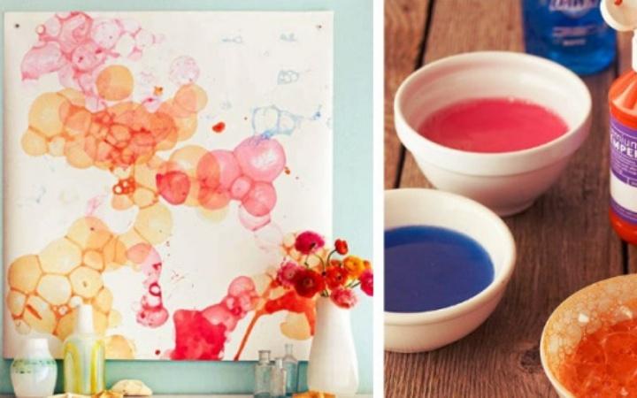 Как нарисовать картину для дома своими руками. Мыльные пузыри
