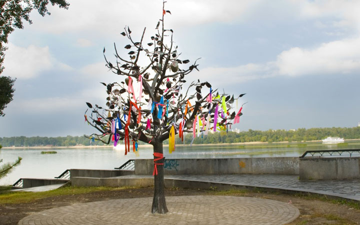 Дерево счастья. Романтические места Киева