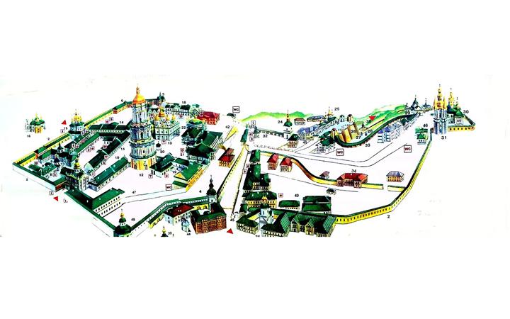 Киево-Печерская лавра. Карта