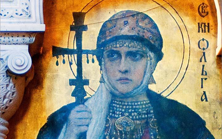 Равнопрестольная княгиня Ольга. Икона. Владимирский собор. Киев.