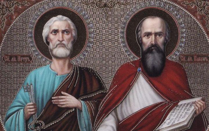 Икона Петра и Павла. День Петра и Павла