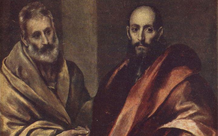 Апостол Петр и Павел. Картина Эль Греко