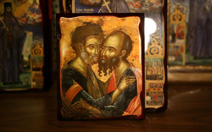 Икона святых великомученников Петра и Павла