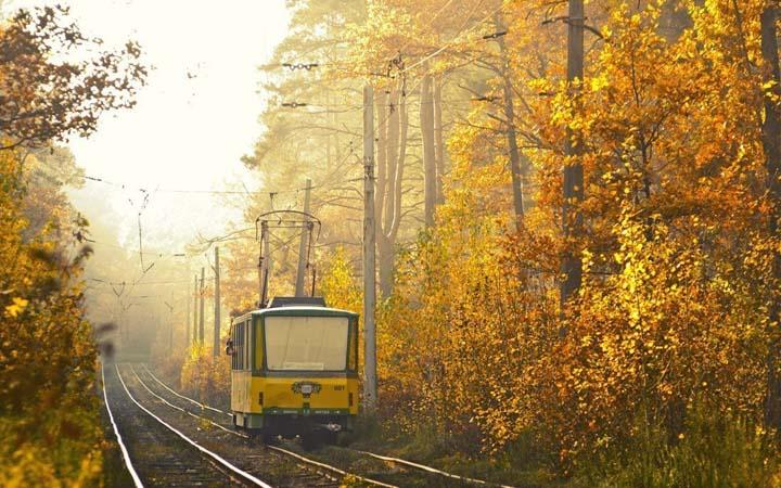 Пуща-Водица. Трамвай. Киев. Романтические места