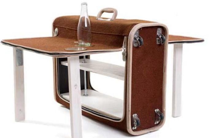 Столик для пикника из чемодана