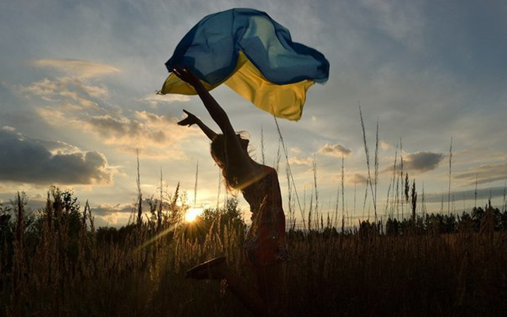 Флаг Украины. Лето. Природа. Выходные. День Независимости