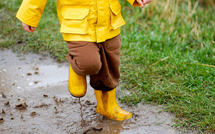 Дети. Дождь. Отдых. Природа