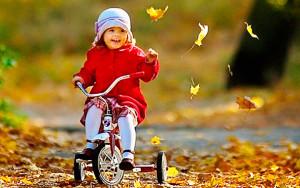 Дети. Осень. Отдых. Велосипед
