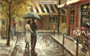 Романтика. Прогулка. Осень Пара. Любовь. Romantic Stroll