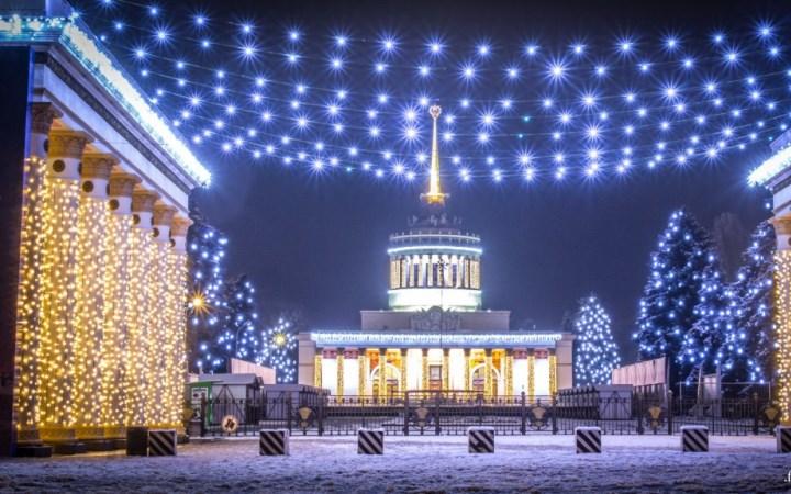 Киев. ВДНХ. Зимняя страна